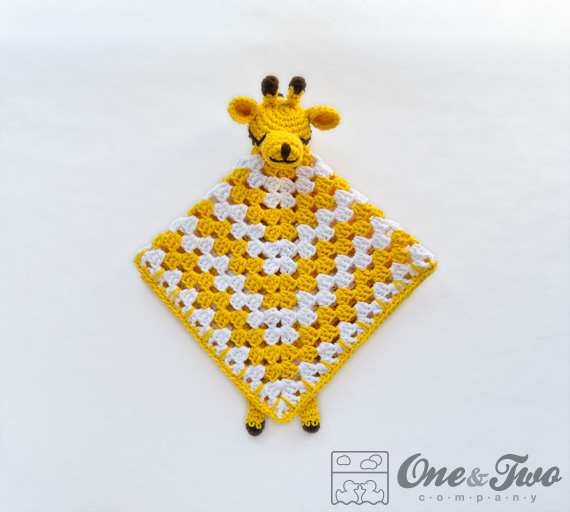Crochet Pattern Giraffe Blanket : Giraffe Lovey / Security Blanket - PDF Crochet Pattern on ...